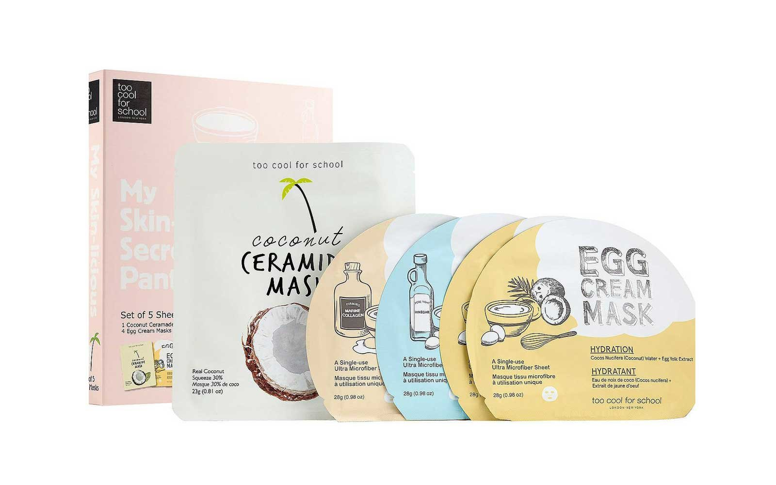 Sheet Mask set by Too Cool for School