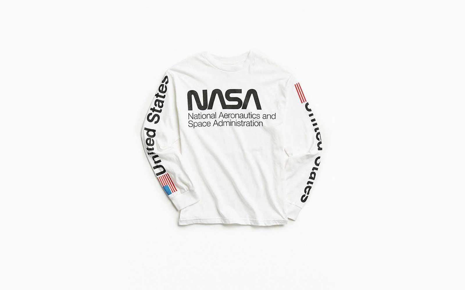 Beautiful NASA Logo Graphic Long Sleeve T Shirt