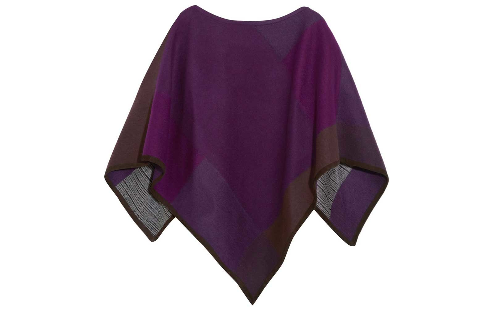 Babjades Suede poncho in purple