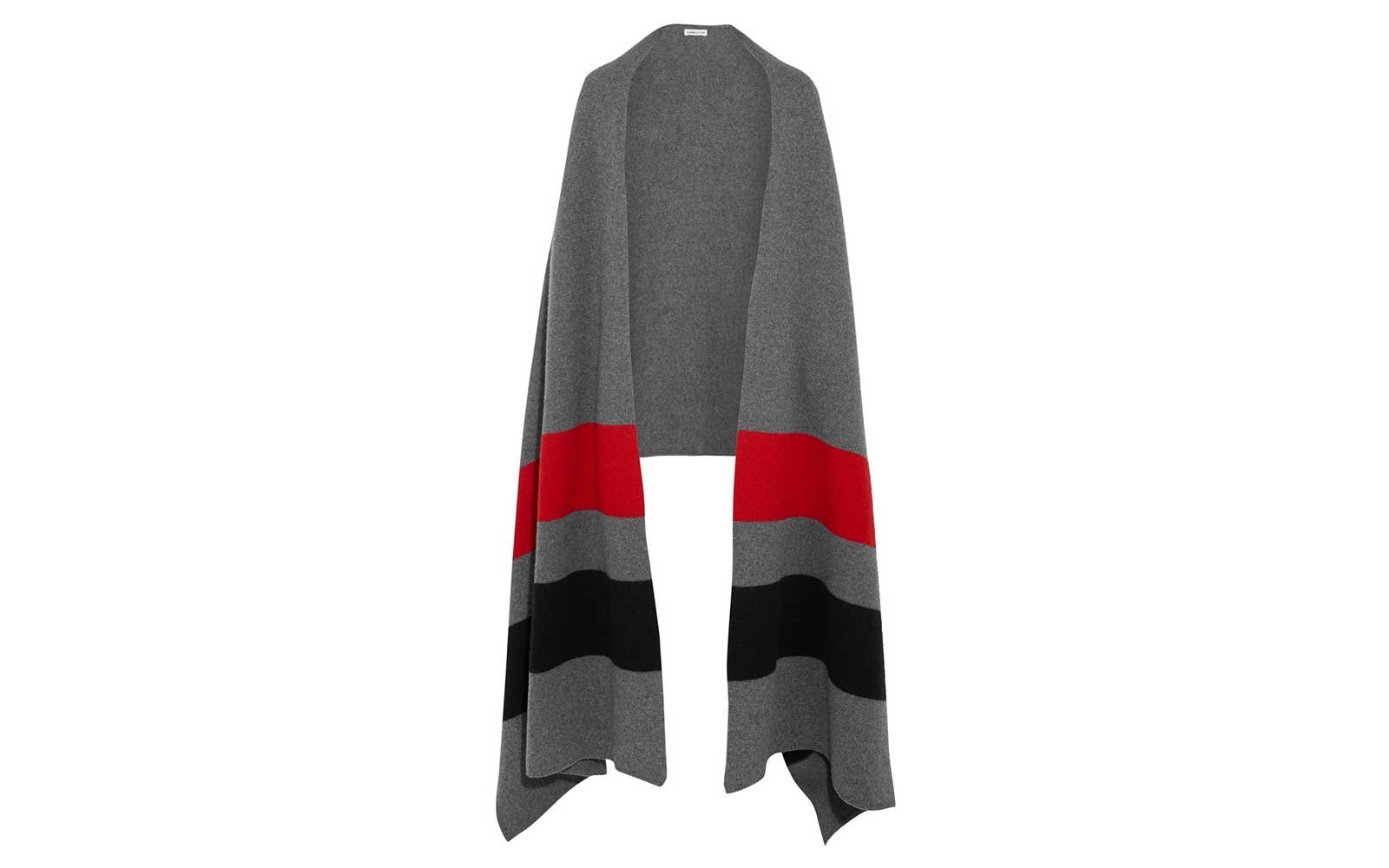 Tomas Meier striped wool wrap for winter travel