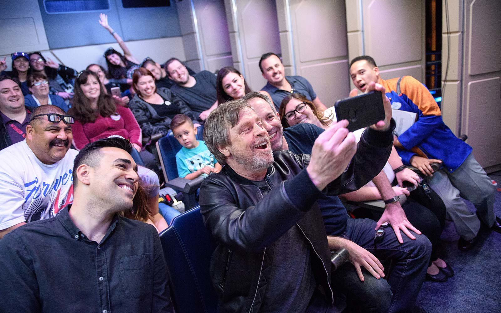 Mark Hamill Surprises Fans on 'Star Tours' at Disneyland!