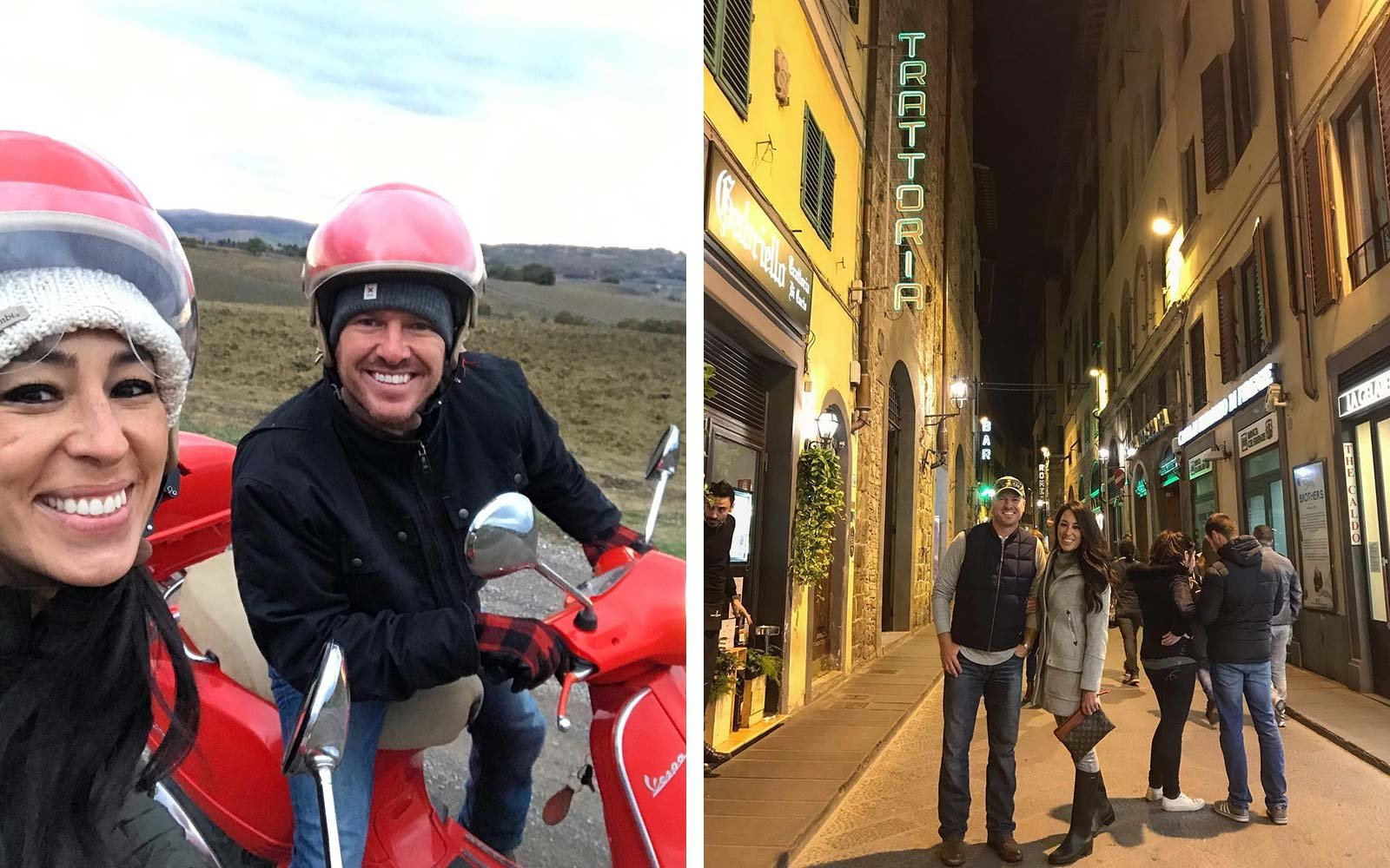 Chip and Joanna Gaines Italy Vacation Holiday
