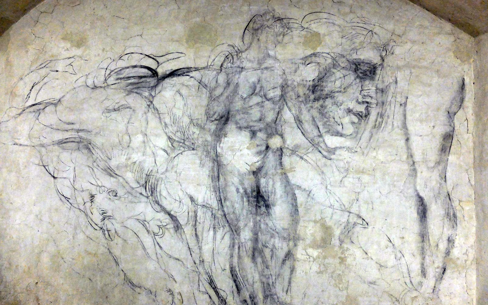 See the Secret Underground Chamber Where Michelangelo Drew on the Walls