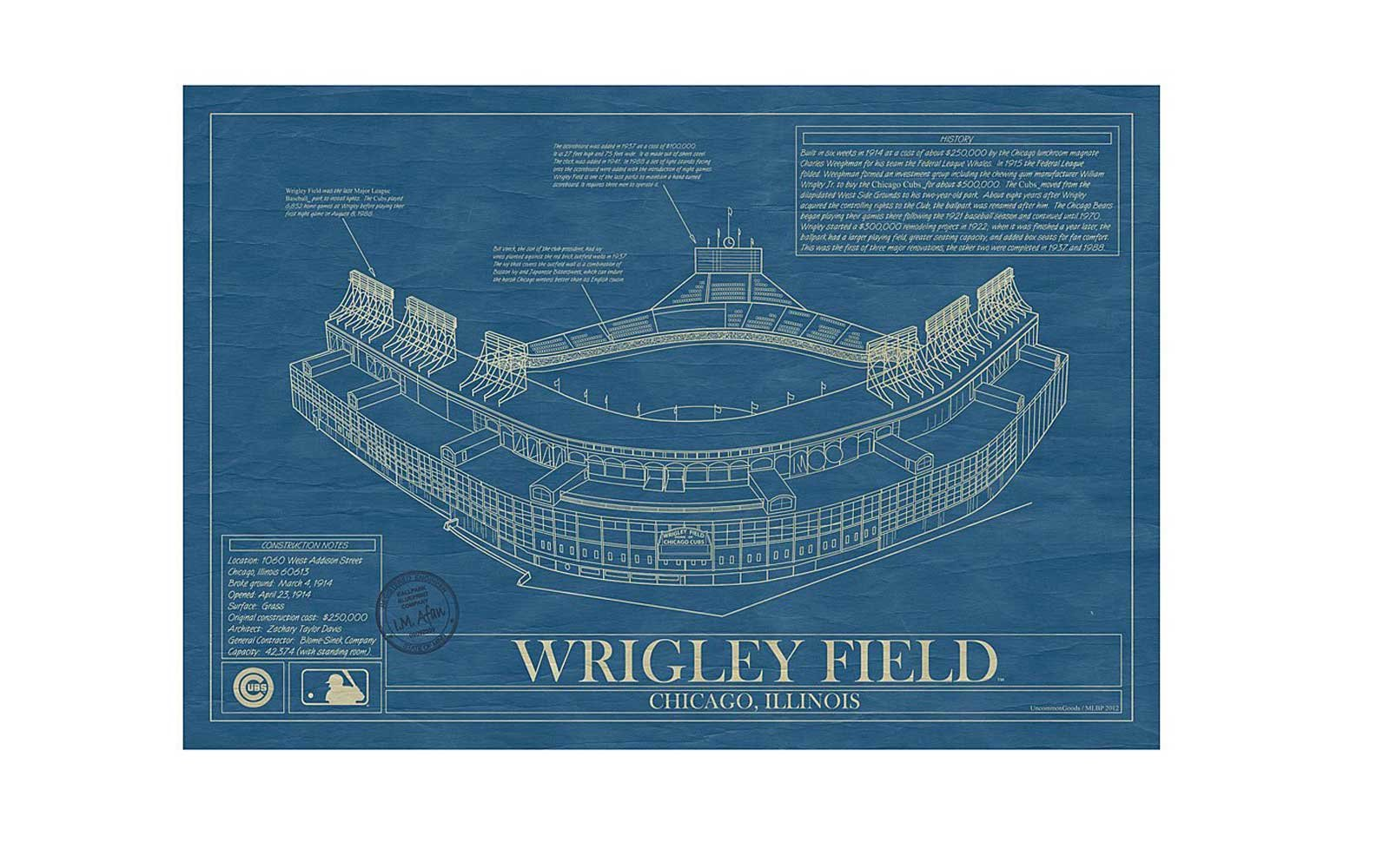 Baseball Stadium Blueprint