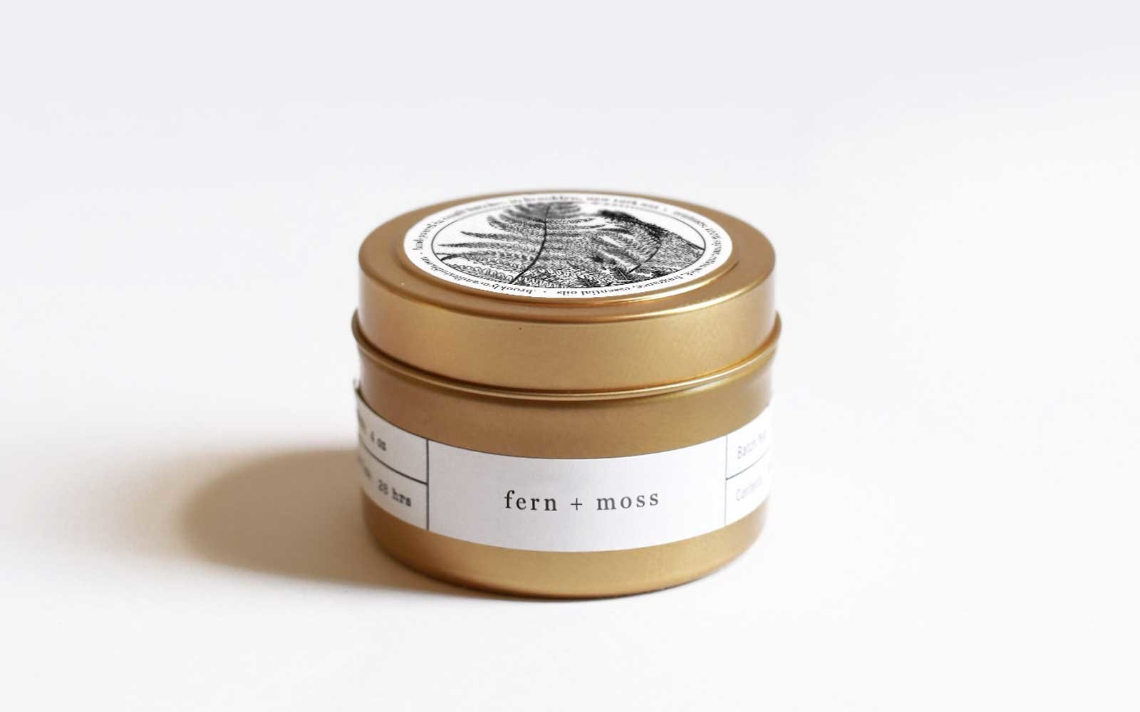 Brooklyn Candle Company Fern and Moss Travel Candle