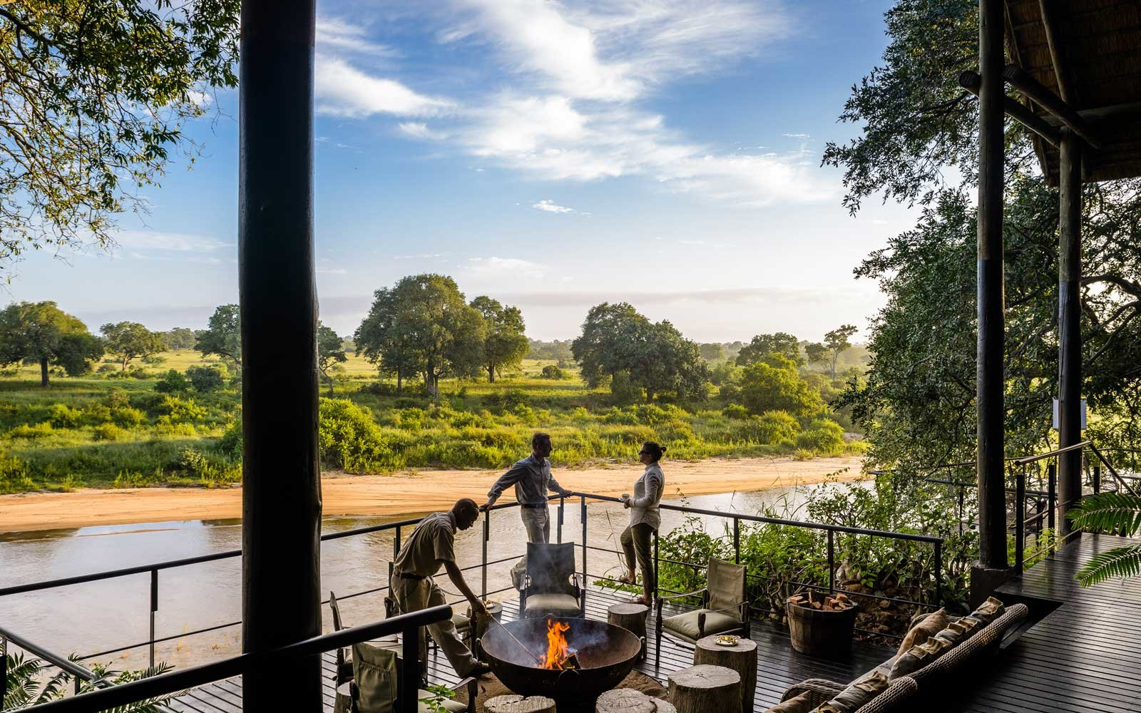 The Lodge Bar at Singita Ebony Lodge South Africa