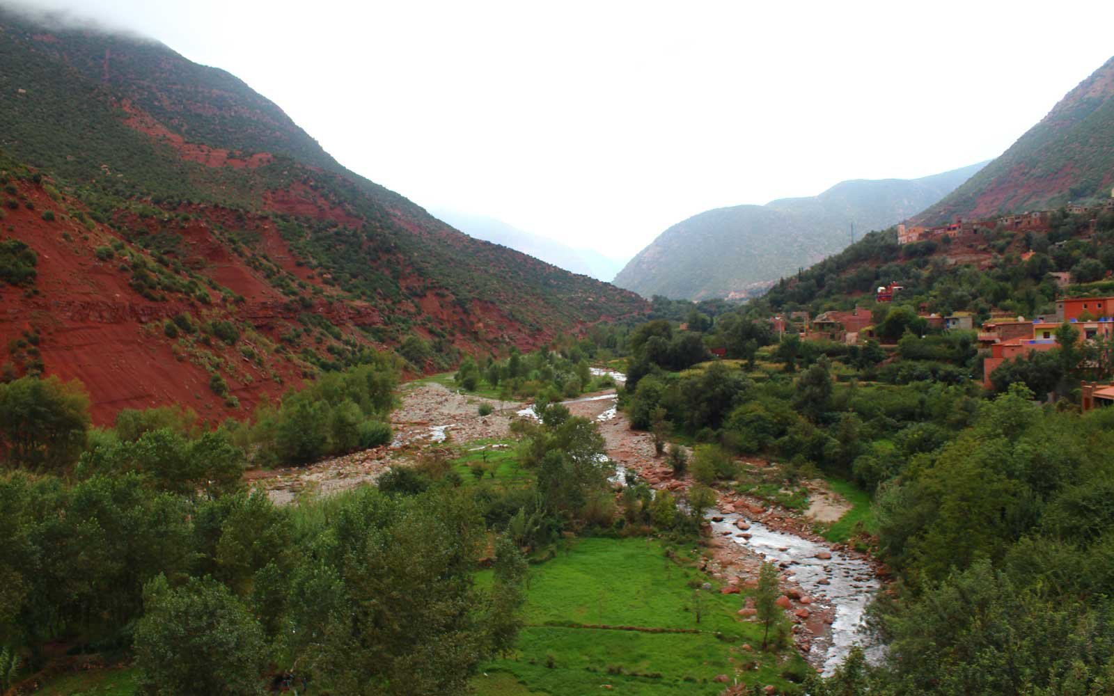 Ourika River, in the Ourika Valley, Morocco