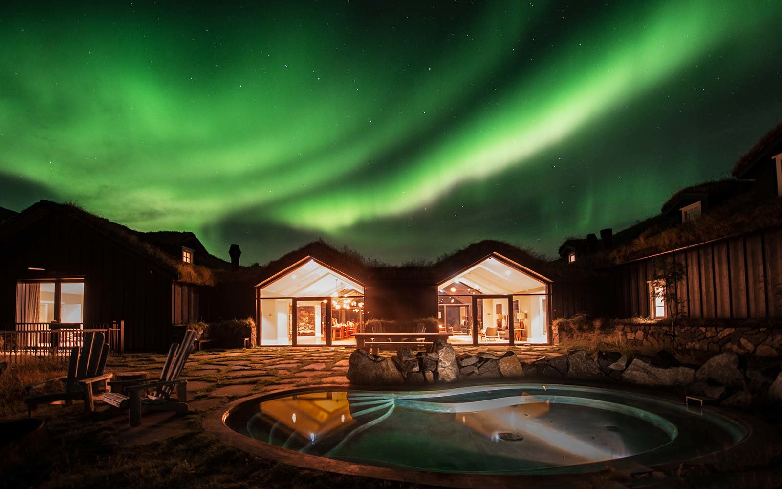 Take a Hot Bath Under the Northern Lights at This Remote Icelandic Hotel