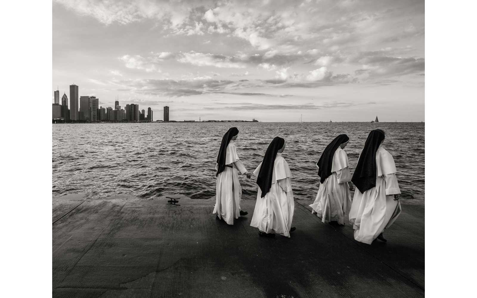 Nuns walking in Chicago