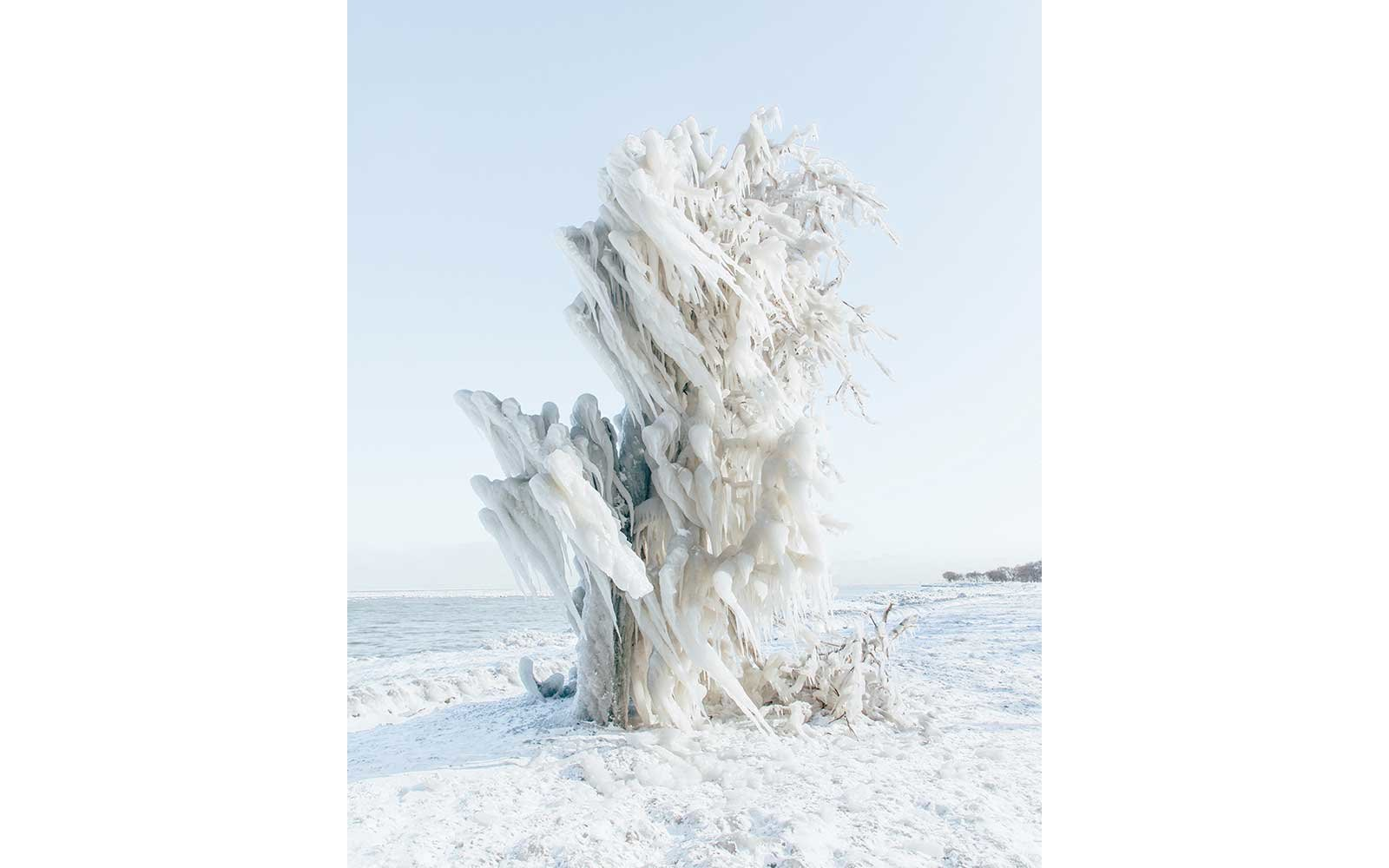 Ice sculpture on the Great Lakes