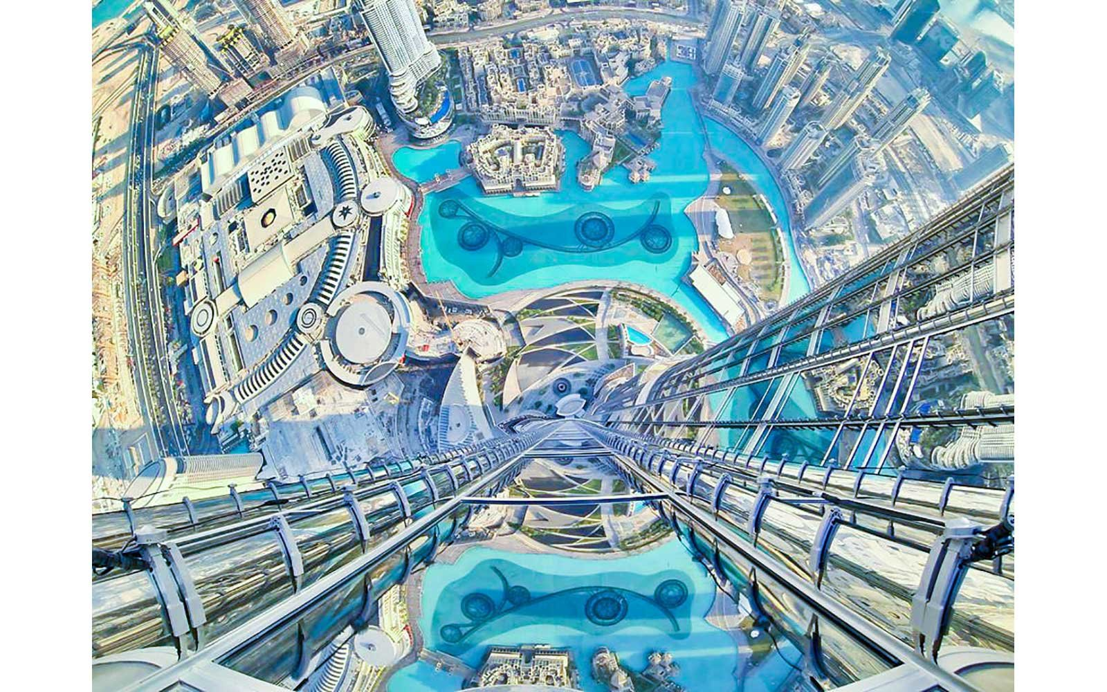 View from the Burj Khalifa in Dubai