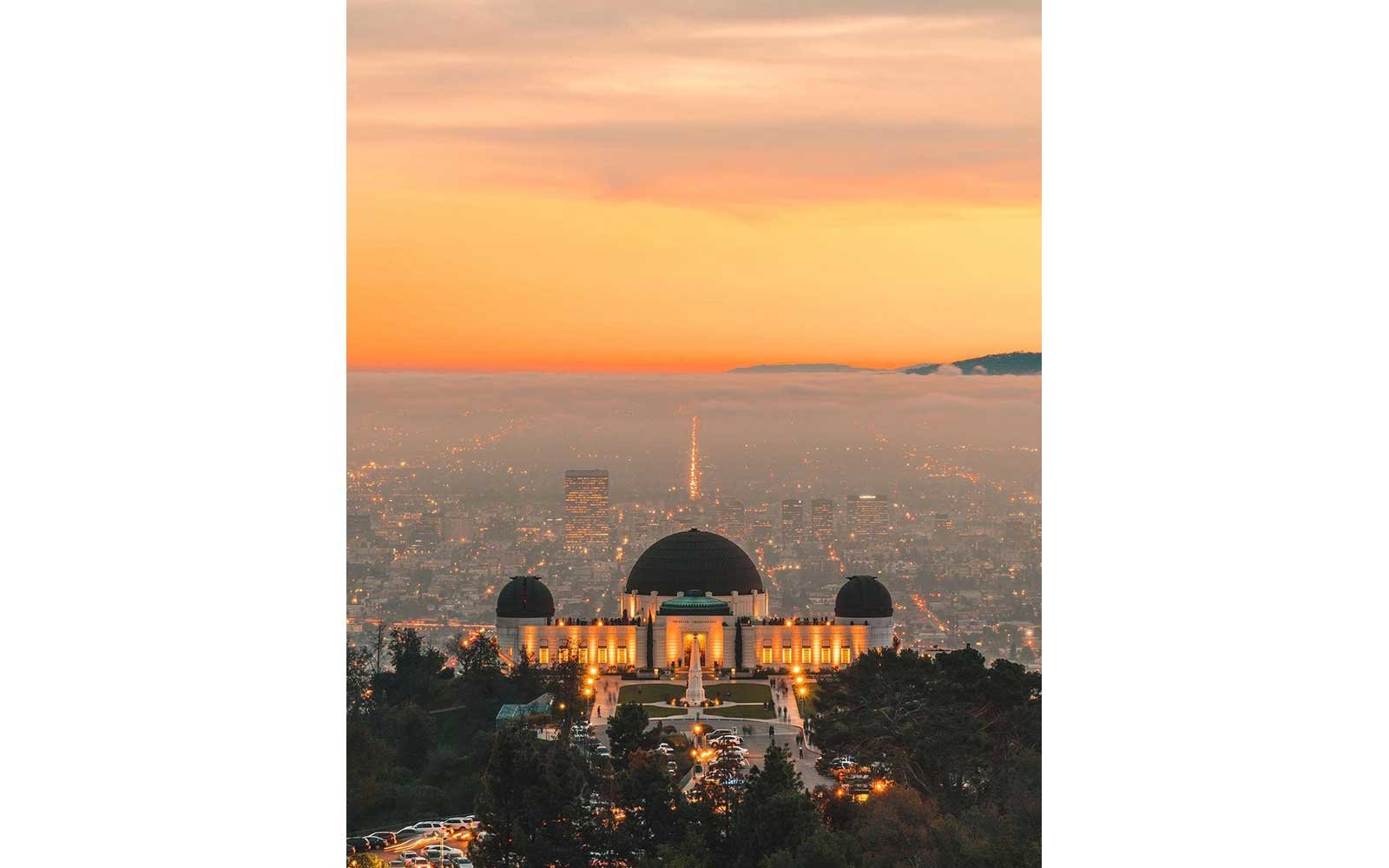 Sunset at Los Angeles' Griffith Observatory