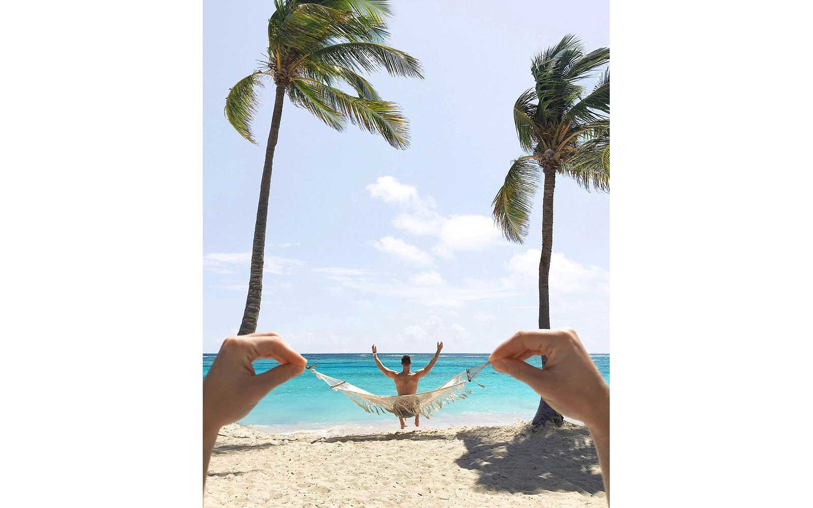 On the beach in Punta Cana, Dominican Republic