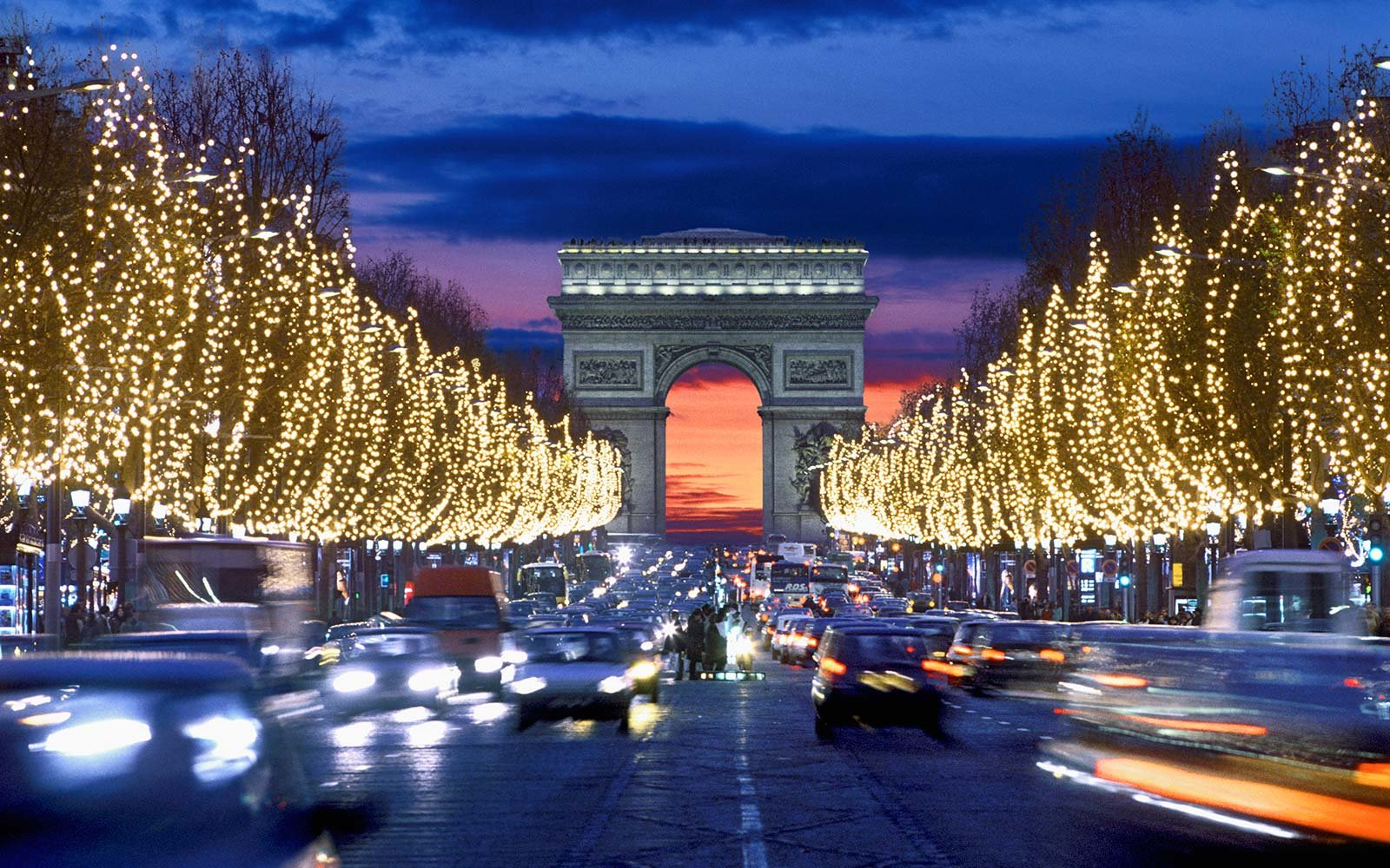 Champs Elysees Christmas Lights Holiday Paris France
