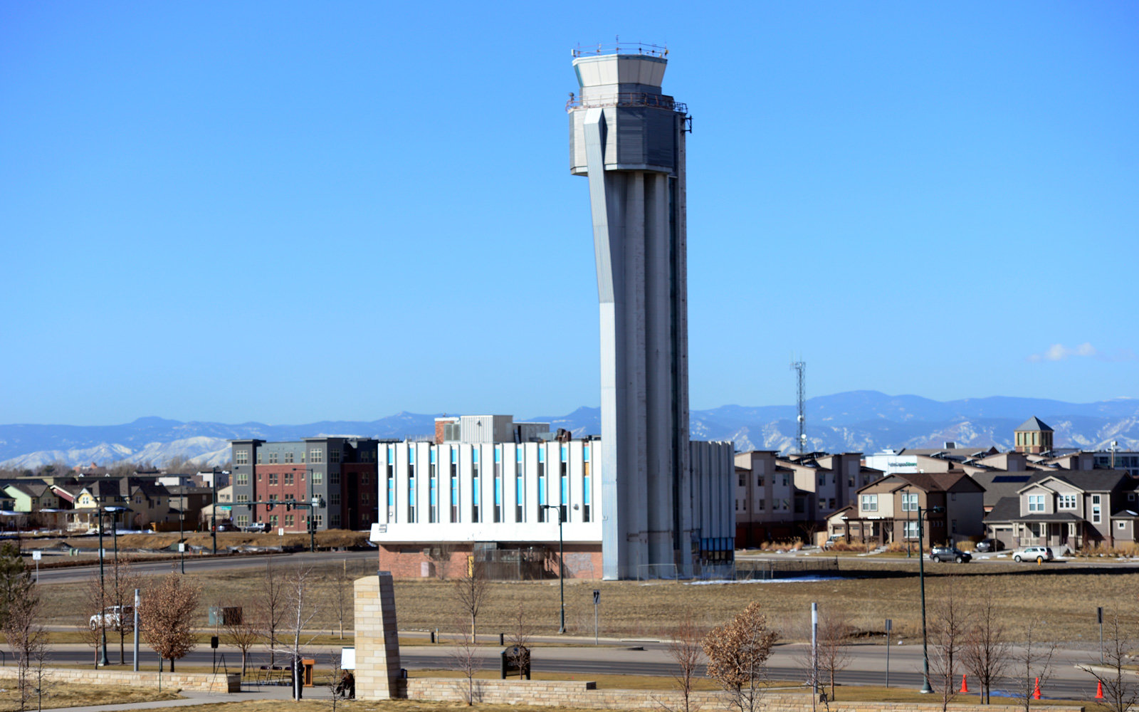 This old control tower is getting a new life in Stapleton, Colorado.