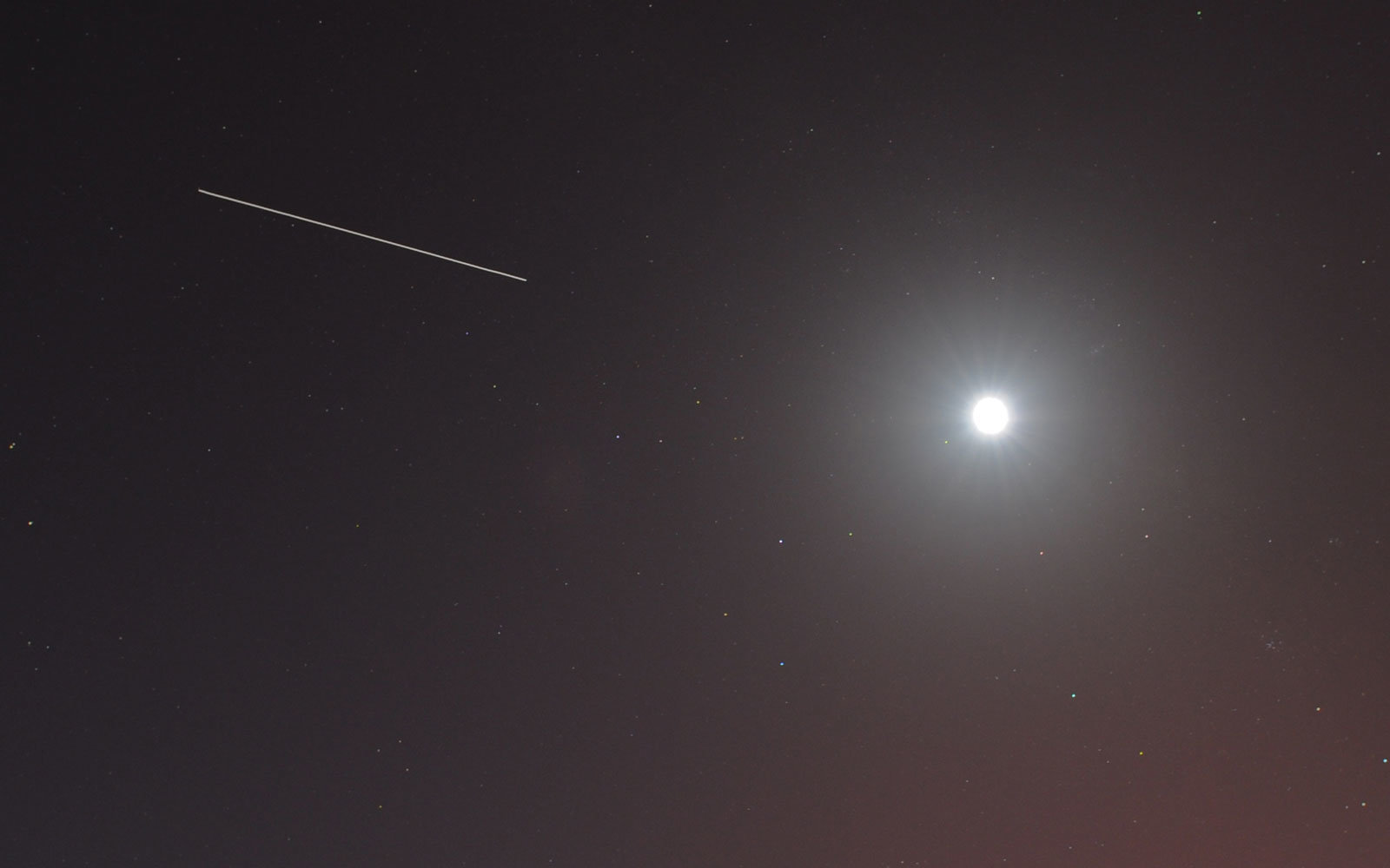 international space station in the sky