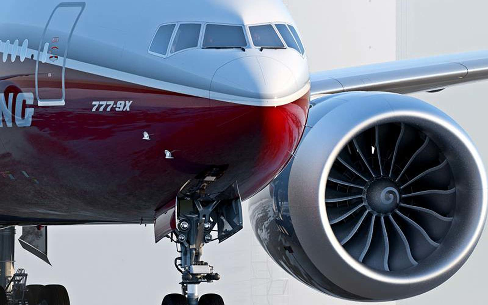 Boeing 777x General Electric GE9X Engine Airplane