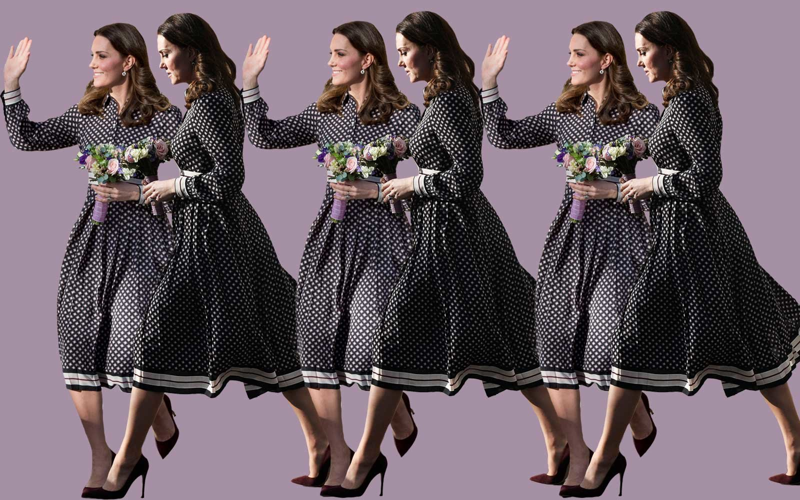 Kate Middleton in Kate Spade dress