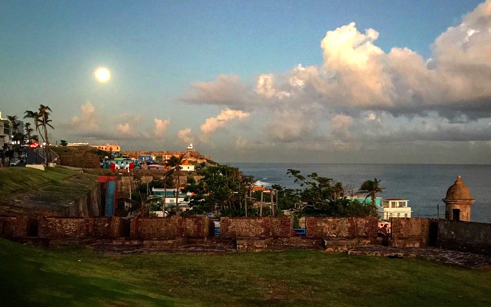 The sun comes out in the Tropical island of Puerto Rico.