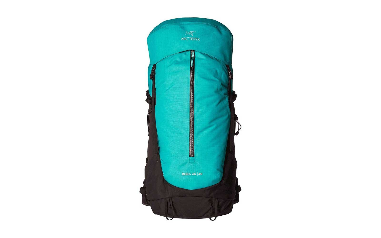 Teal waterproof backpack from Arcteryx