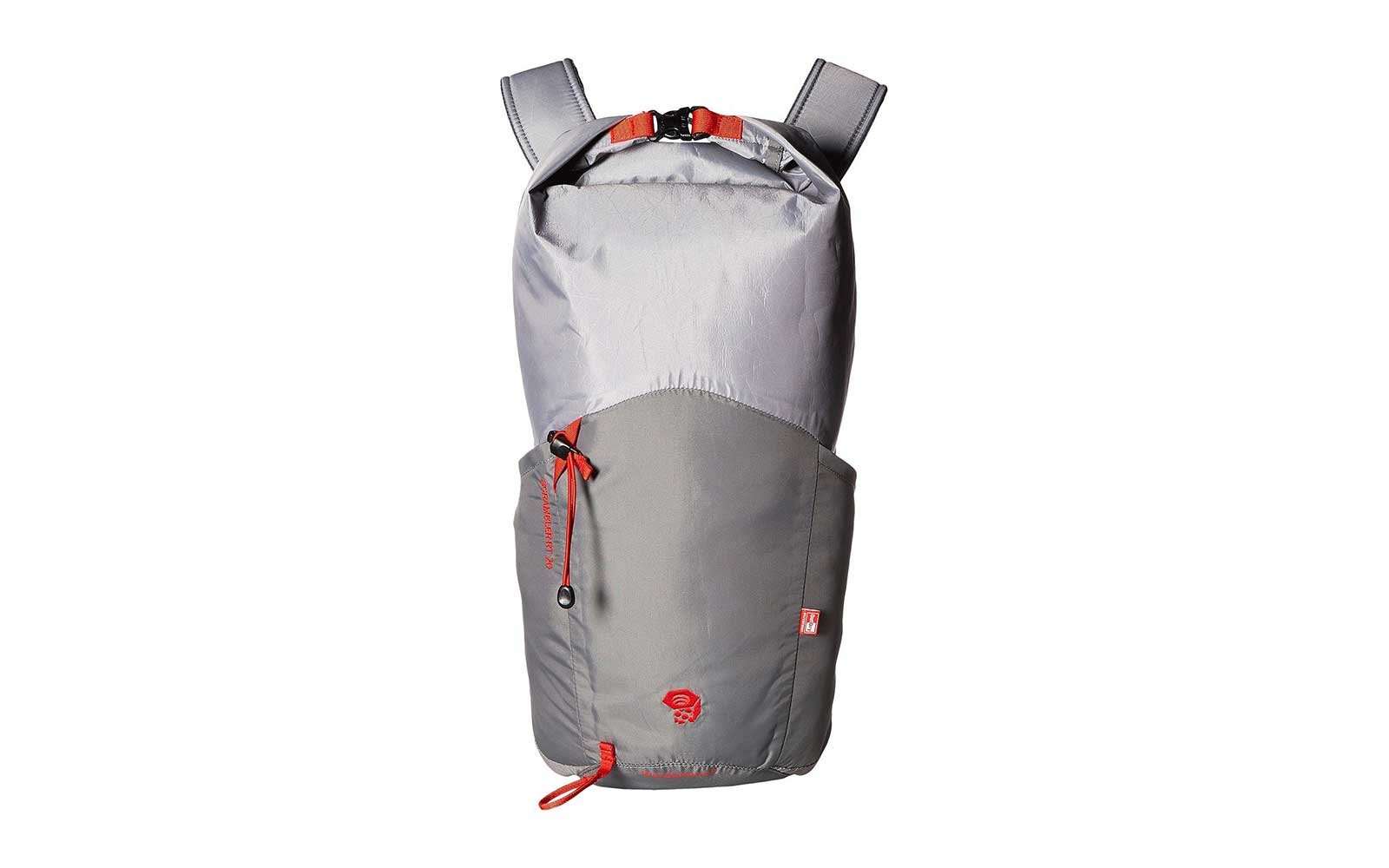 Grey scrambler waterproof backpack from Mountain Hardwear