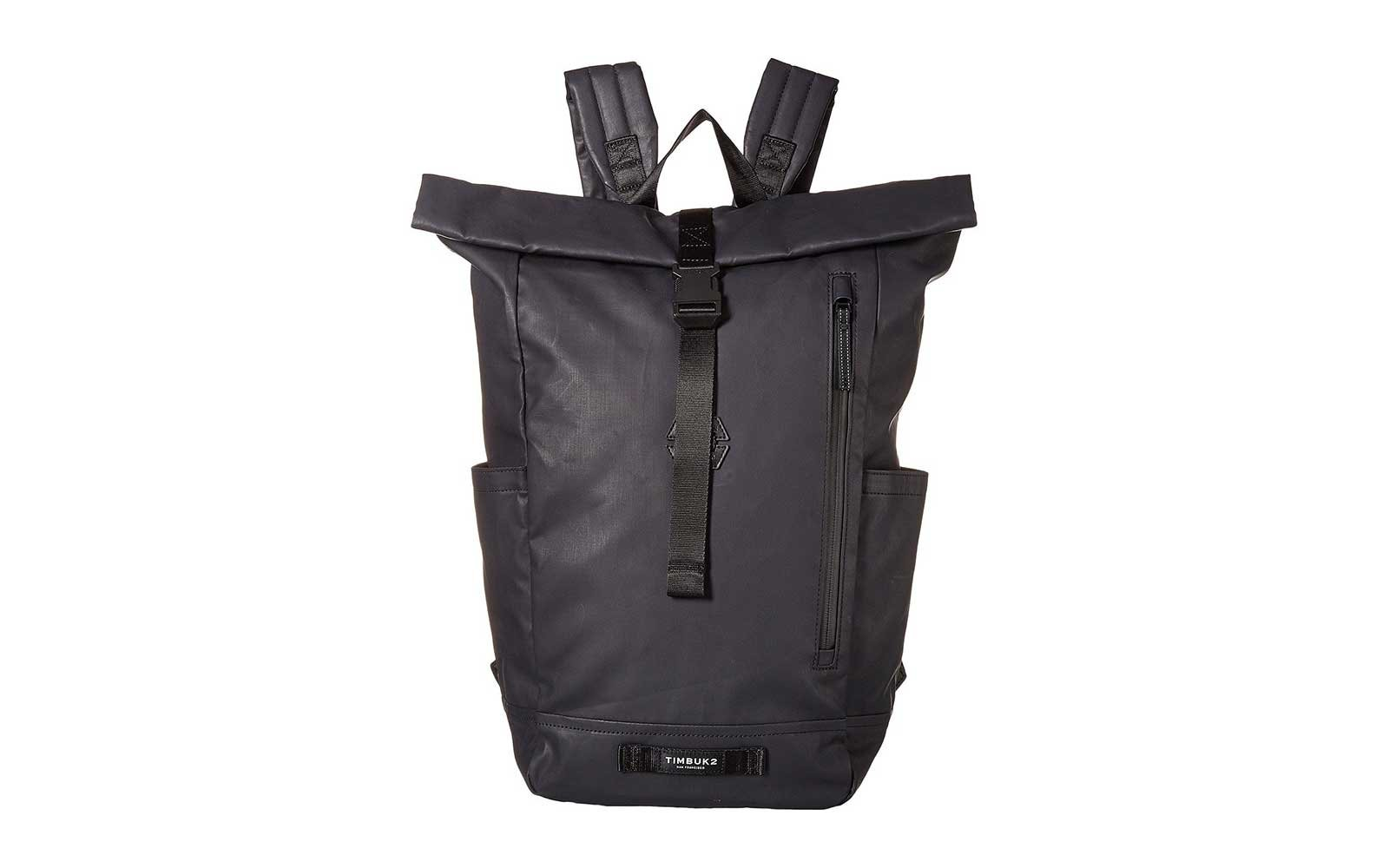 Black carbon coated waterproof pack from Timbuk2