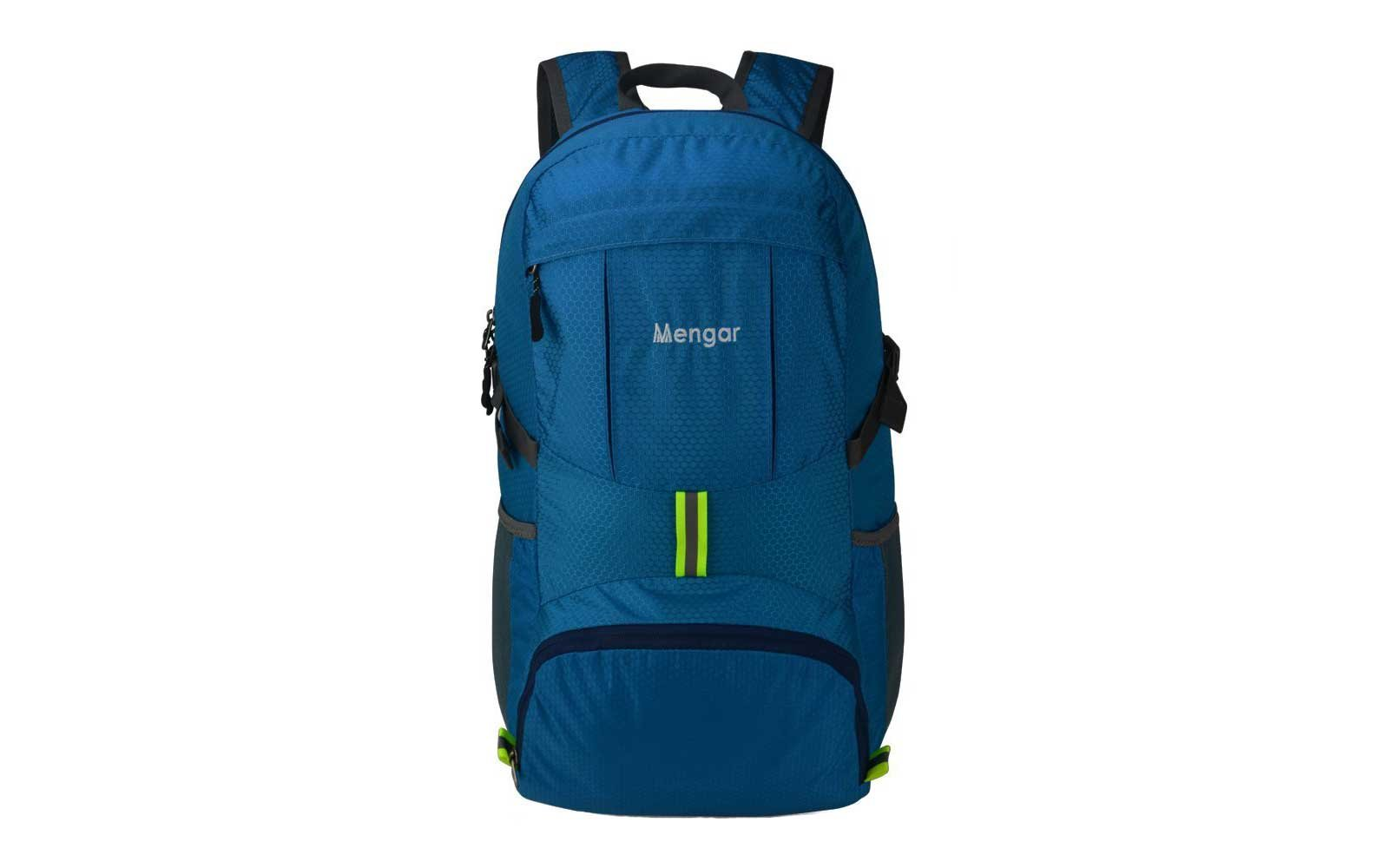 Blue waterproof backpack from Mengar