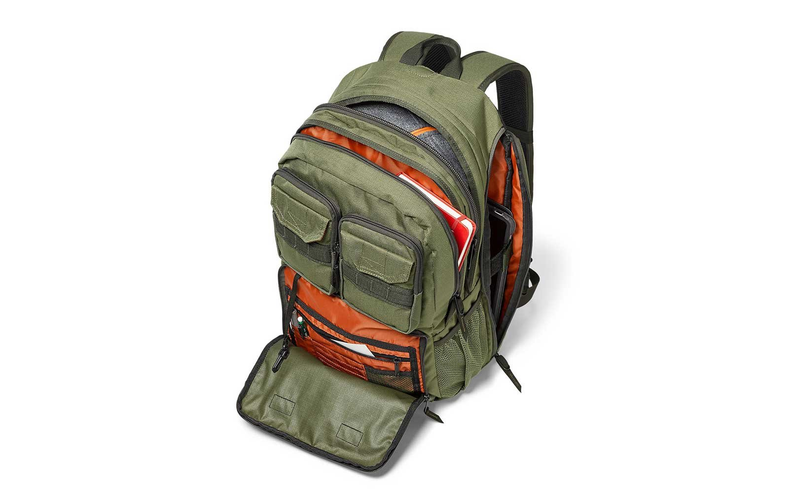 Green Eddie Bauer waterproof backpack