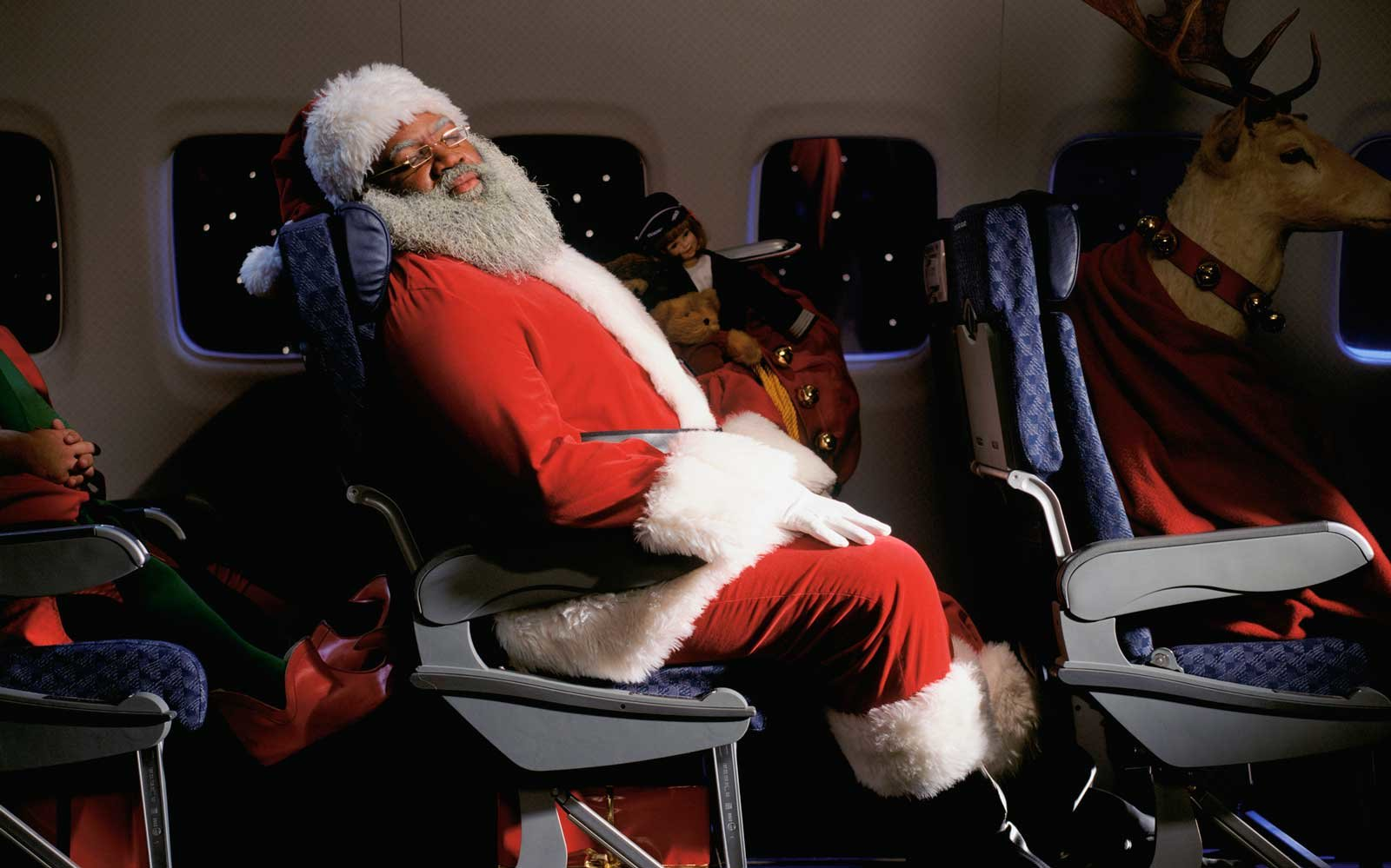 Santa on Airplane