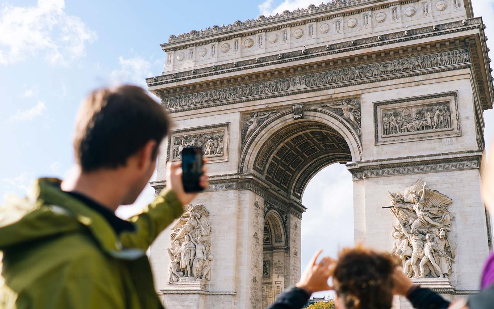 Arc de Triomphe Paris France Tourists Landmark Photo Camera Phone Lens