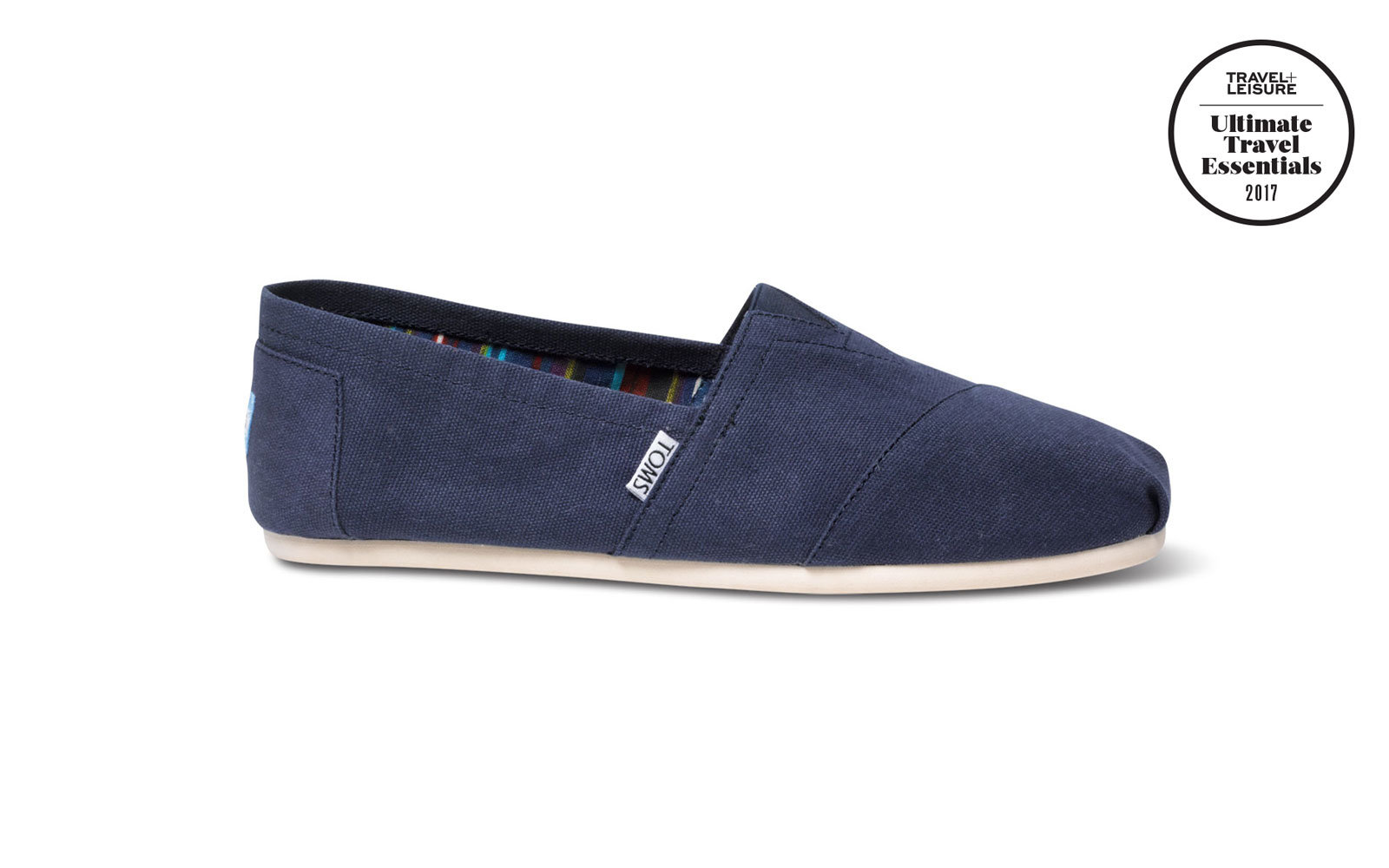 Men's Aloha Canvas Travel Comfort Slip On Shoes Blue