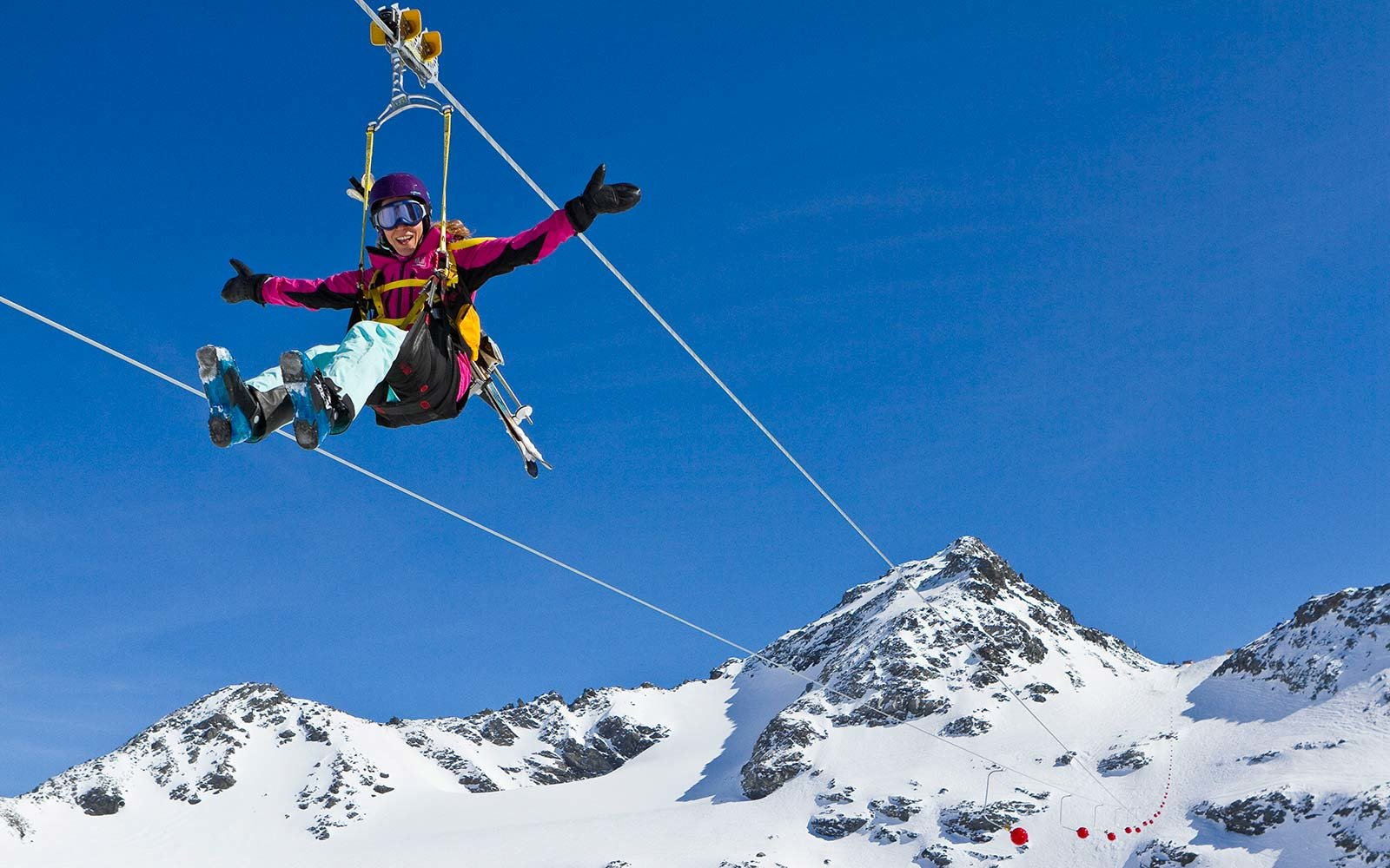 Val Thorens Ski Resort French Alps Zipline