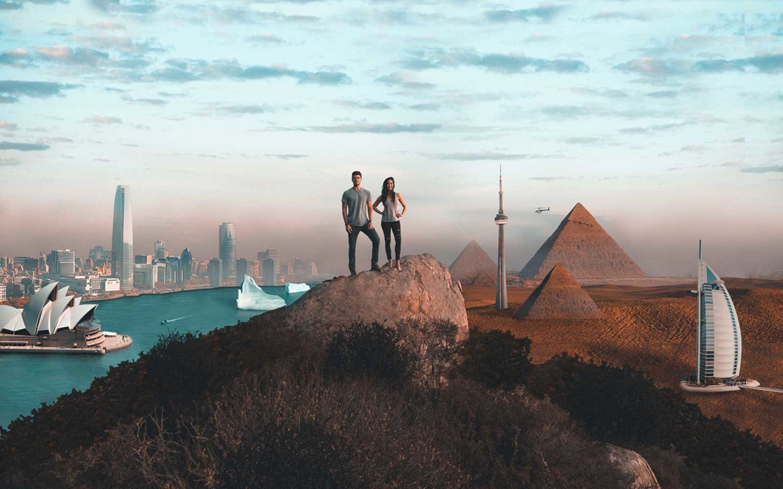 Kasey Stewart and Julie Travel All 7 Continents