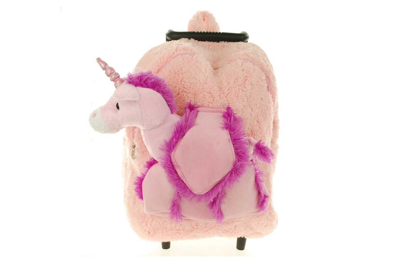 Plush Animal Rolling Backpack