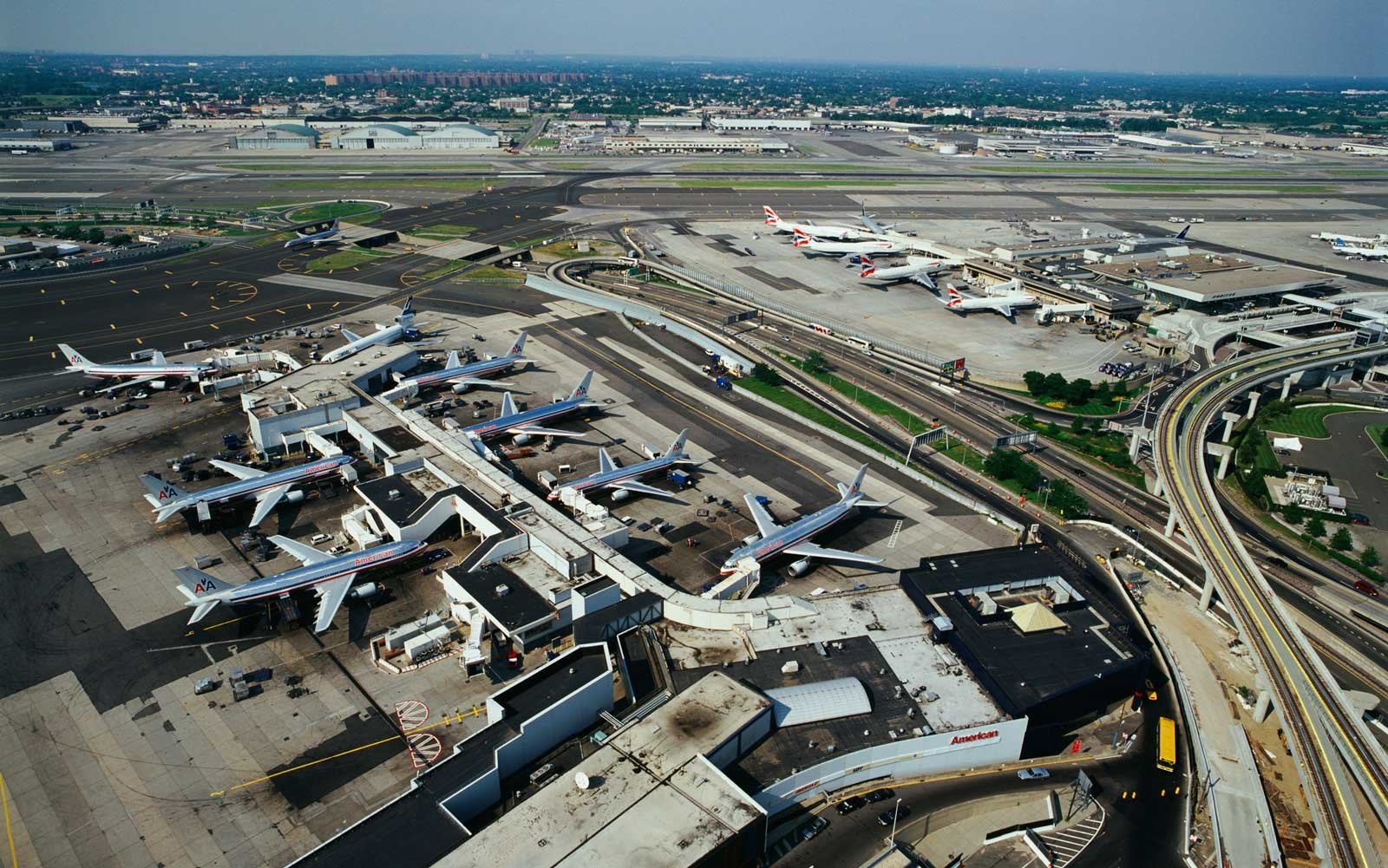 View of John F. Kennedy Airport