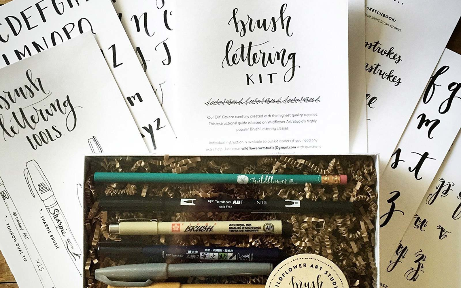 DIY brush lettering starter set