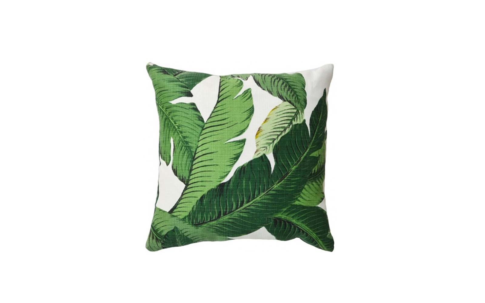palm leaf throw pillows