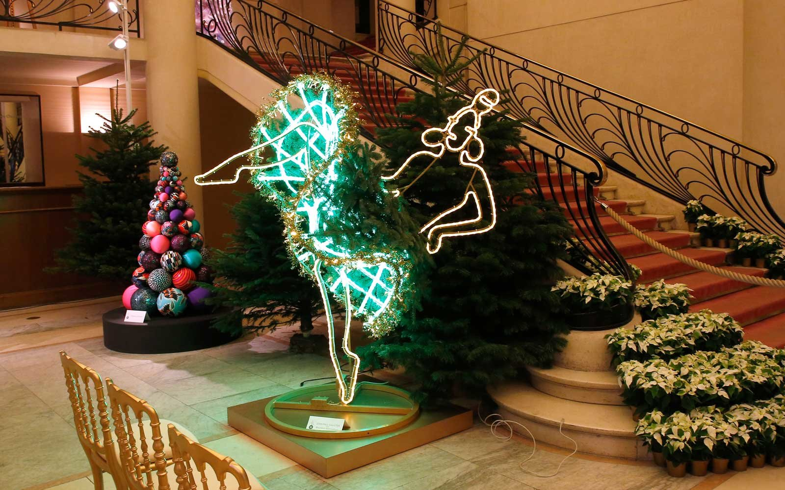 Designer Christmas trees in Paris, France