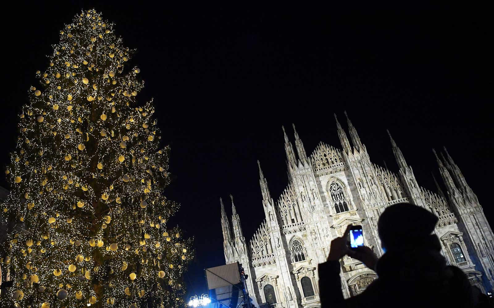 Milan, Italy Christmas tree