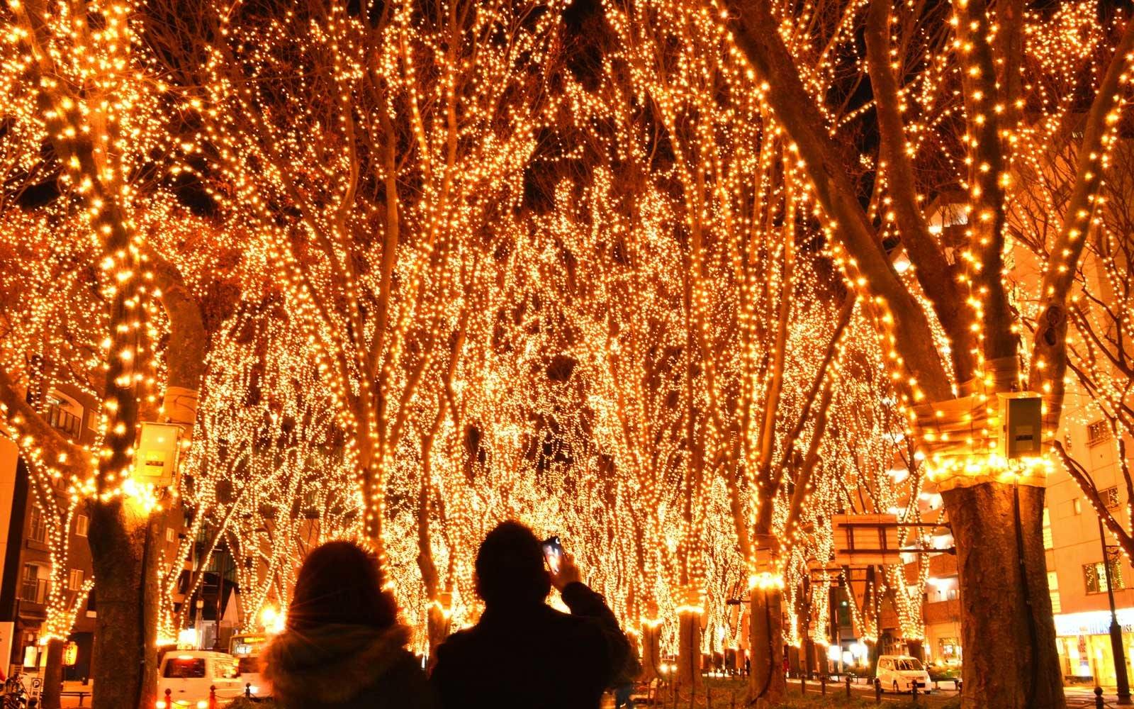 Christmas illuminations in Sendai, Japan