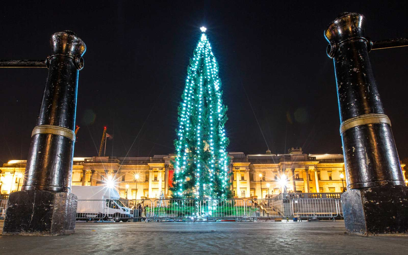 The Trafalgar Square Christmas tree comes from Norway, as a gift