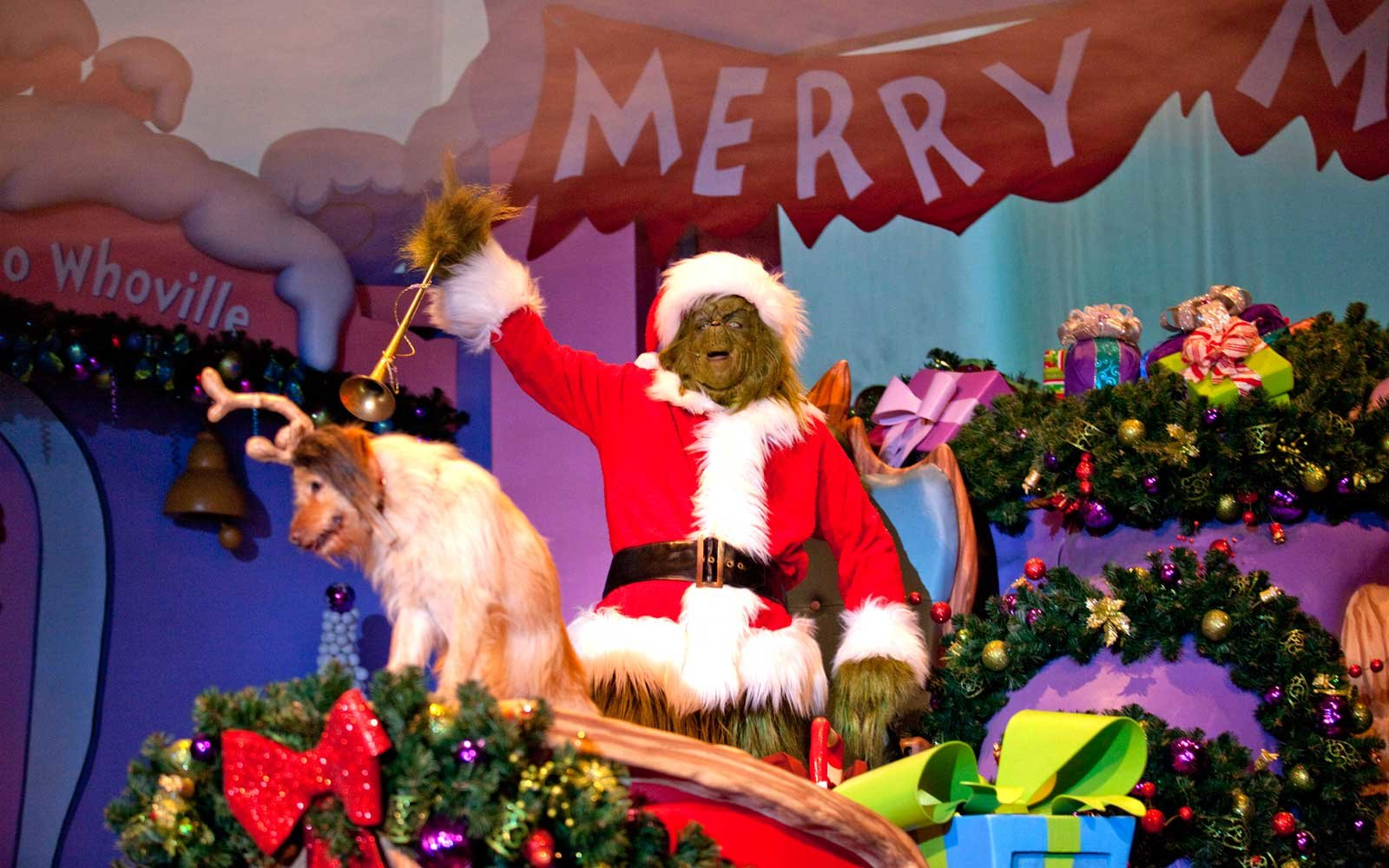 Grinchmas at Universal Studios in Orlando Florida