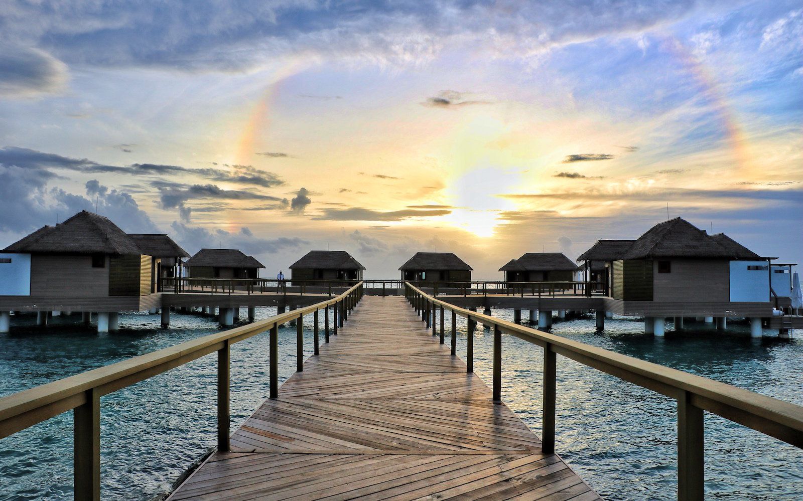 Overwater bungalows at Sandals South Coast Jamaica