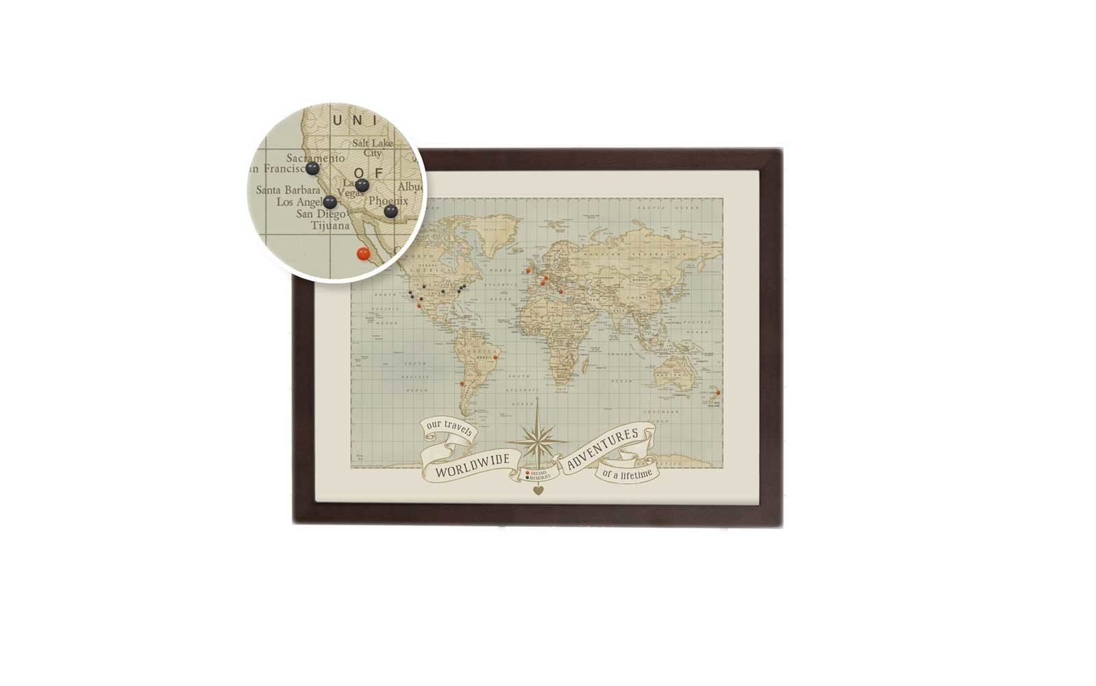 World Push Pin Travel Map