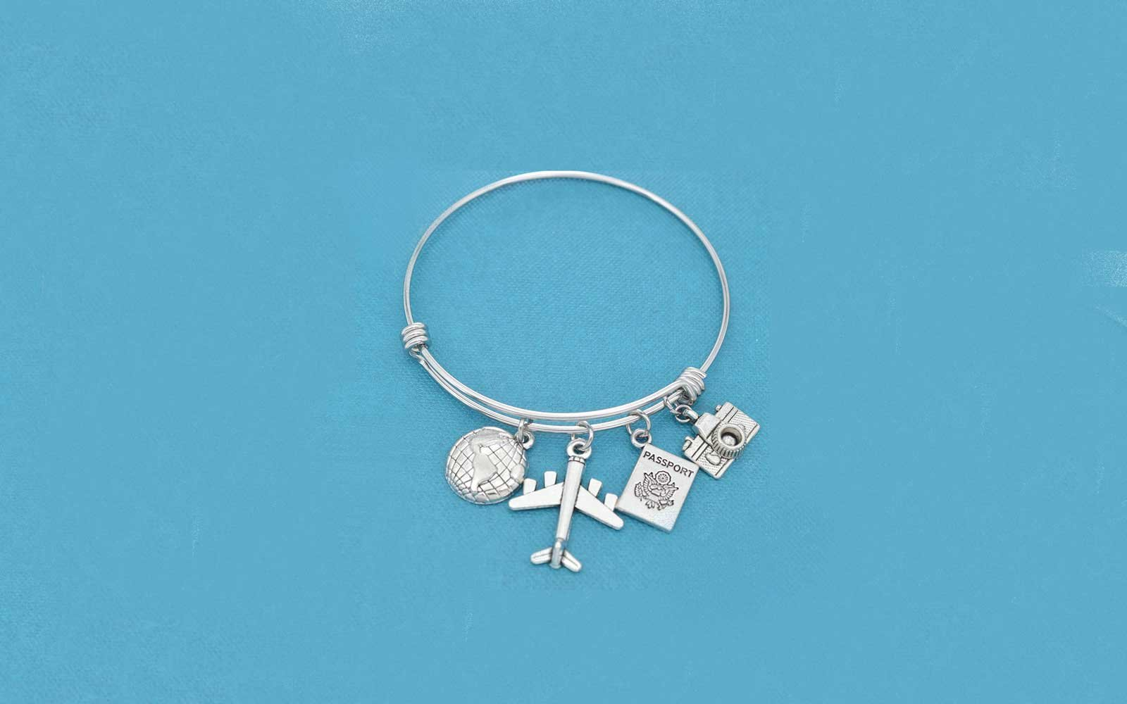 World Traveler Bangle Bracelet