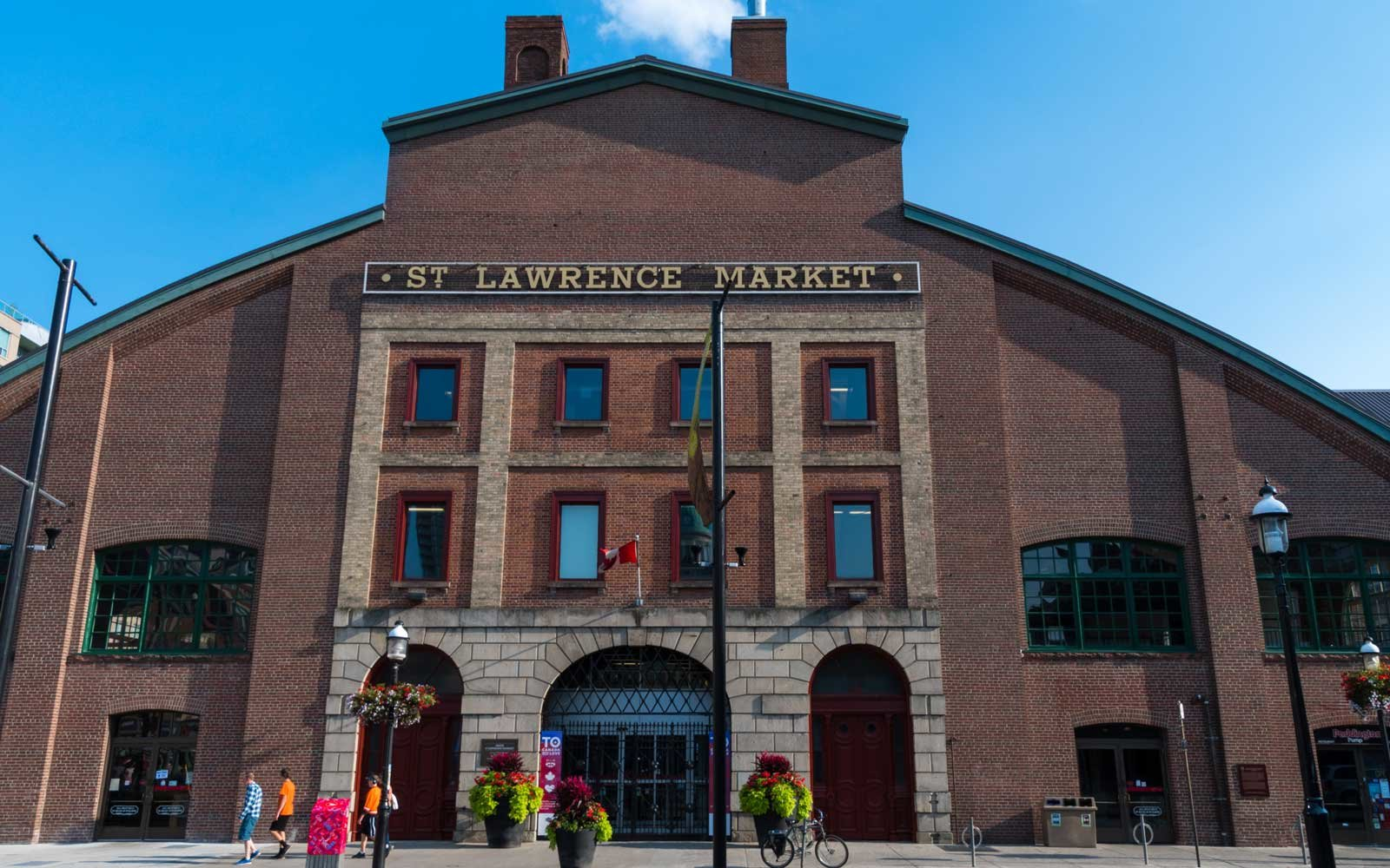 Saint Lawrence Market Facade in Old Toronto