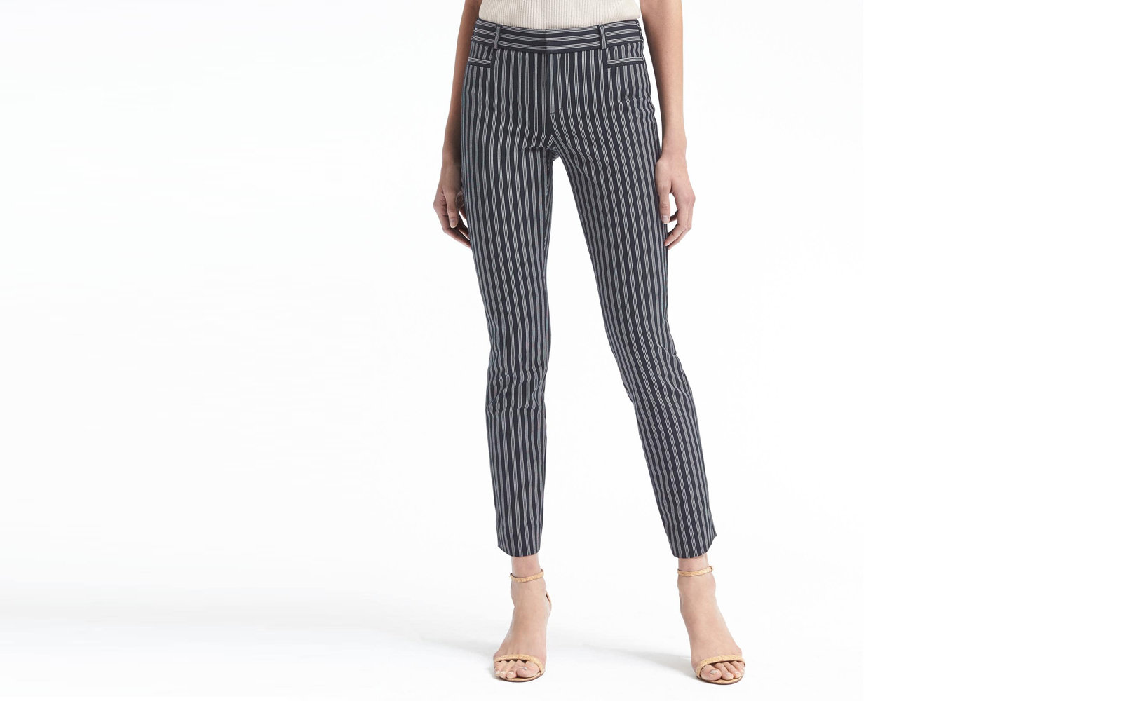 Banana Republic Sloan Stripe Bi-Stretch Pant