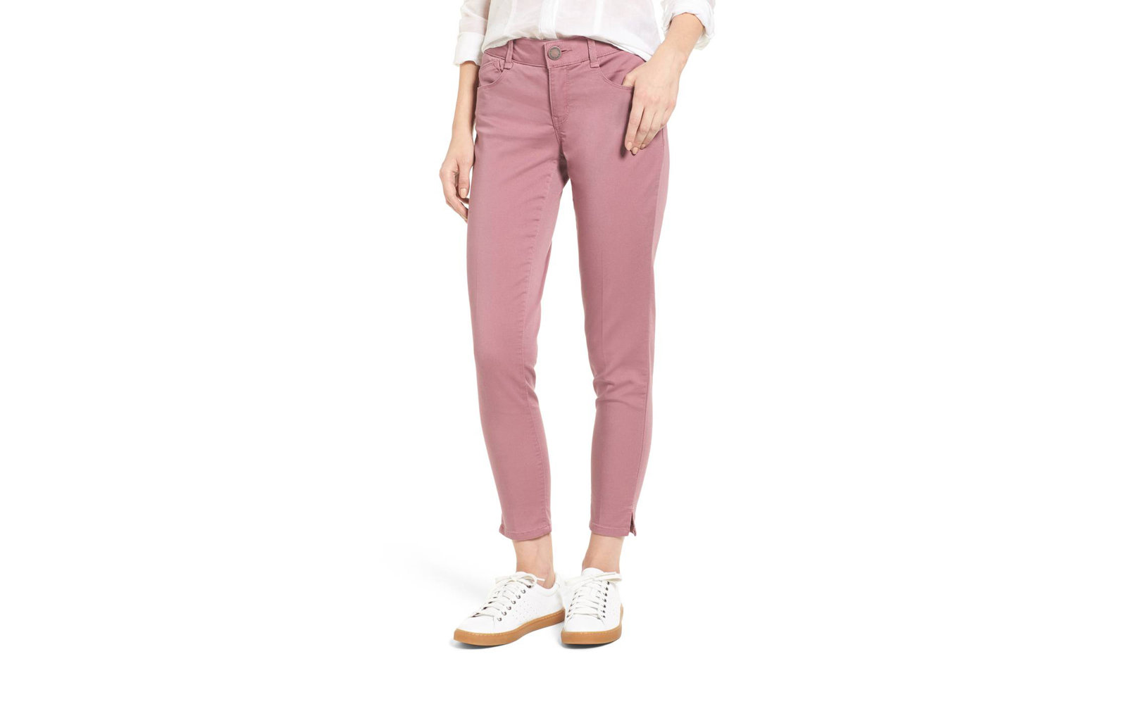 Wit & Wisdom Ab-solution Stretch Twill Skinny Pants in Wistful Mauve