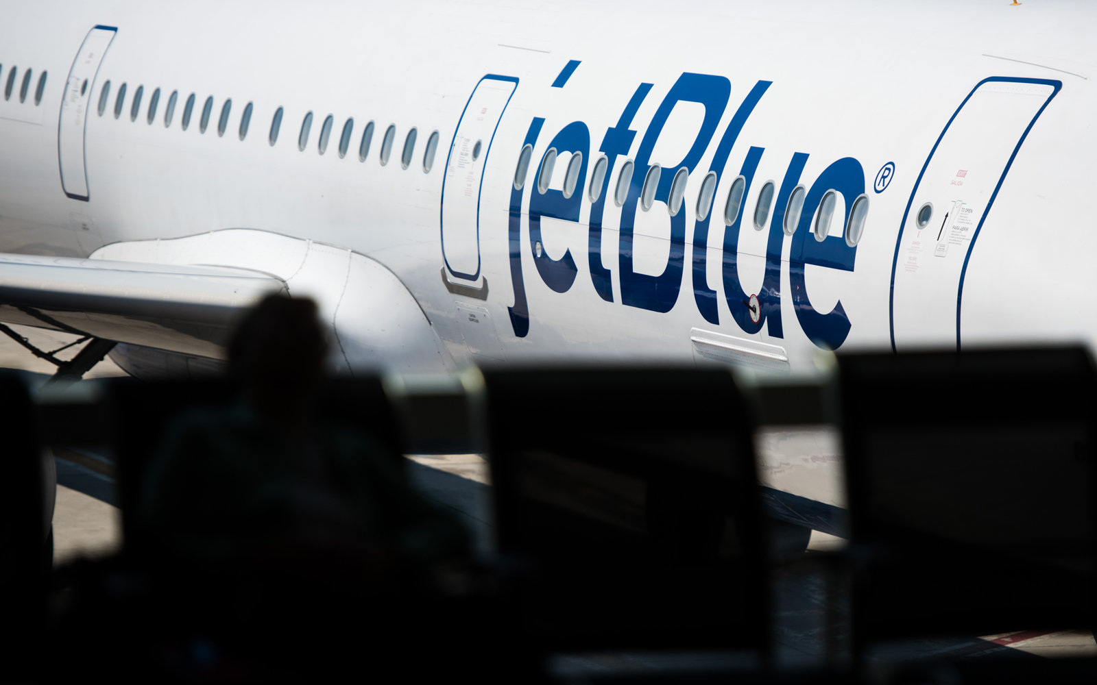 JetBlue Airplane at gate