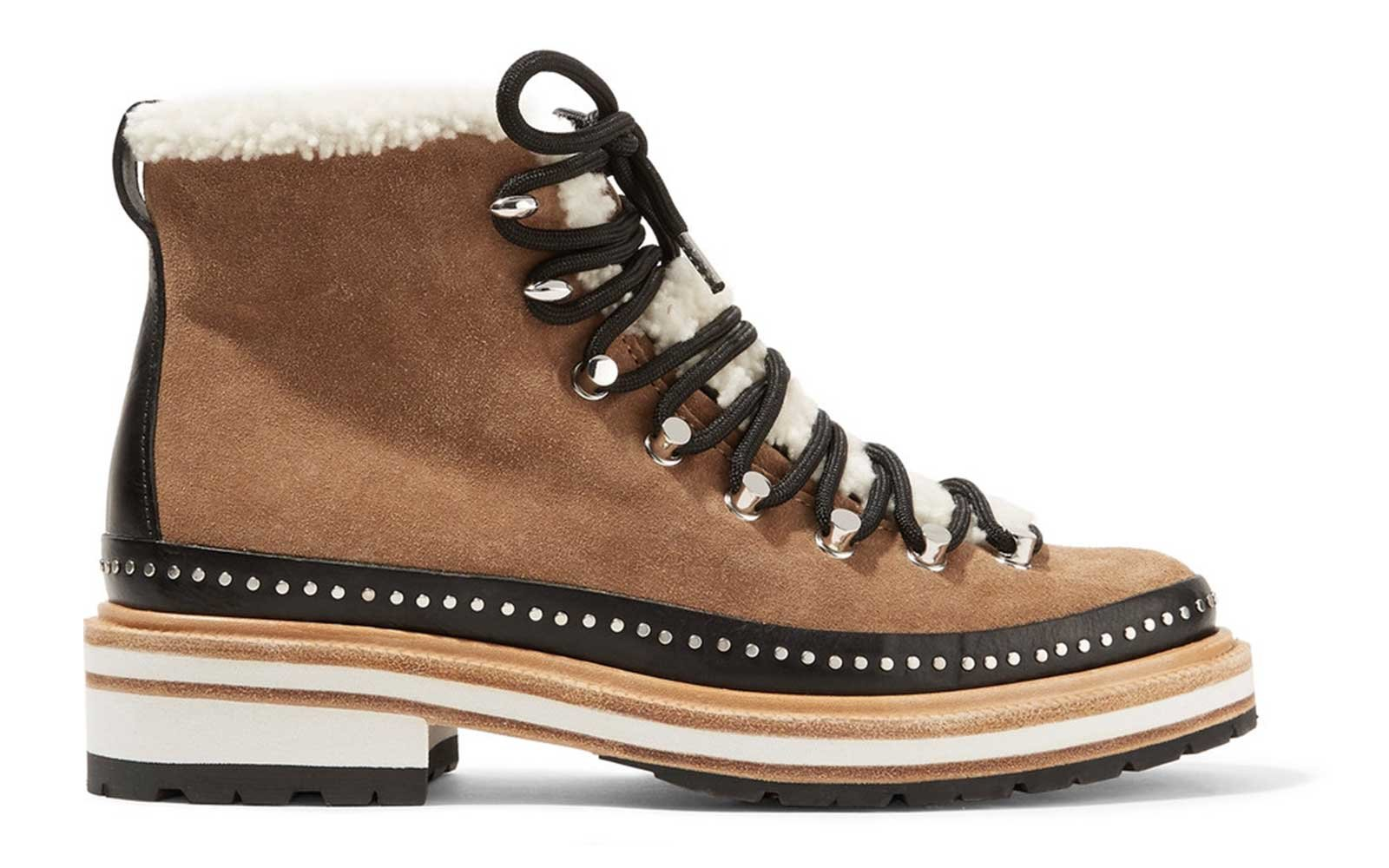 Studded suede and shearling boots by Rag & Bone